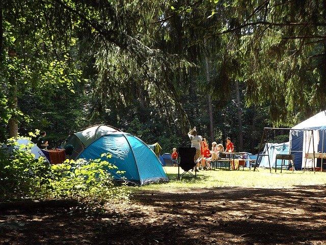 faire du camping avec un chien